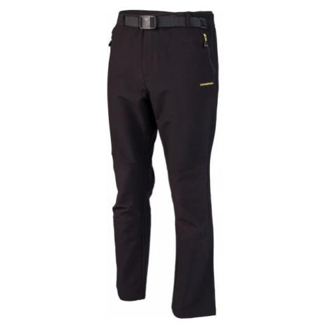 Crossroad ALBERT černá - Pánské softshellové kalhoty