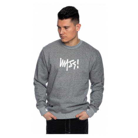 Mass Denim Sweatshirt Crewneck Signature Medium Logo light heather grey