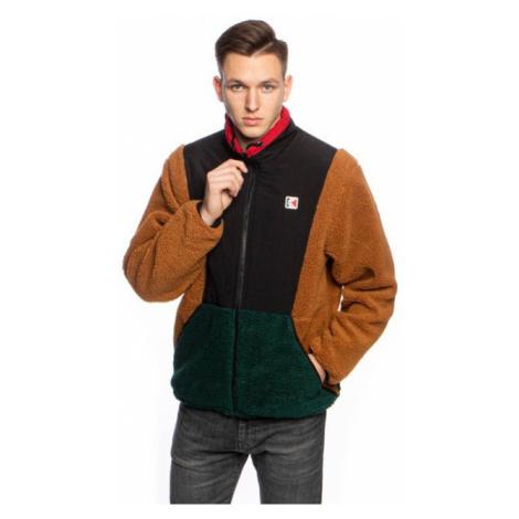 Jacket Karl Kani Teddy Block Windrunner Jacket brown/black/dark green