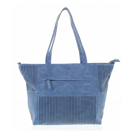 Elegantní perforovaná dámská kabelka přes rameno modrá - Beagles Lema