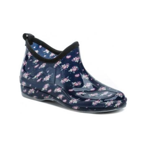 Wojtylko 7G4621G modré květy nízké dámské gumáky Modrá