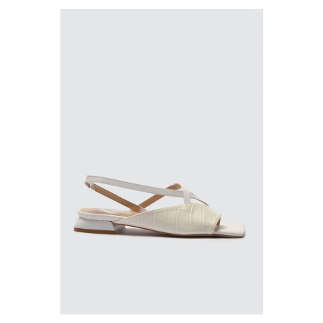 Trendyol White Pointed Toe Sandals