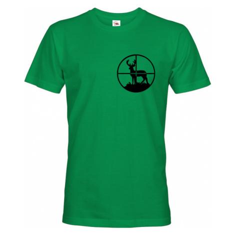 Tričko pro myslivce s jelenem v zaměrovači - ideální dárek pro lovce BezvaTriko