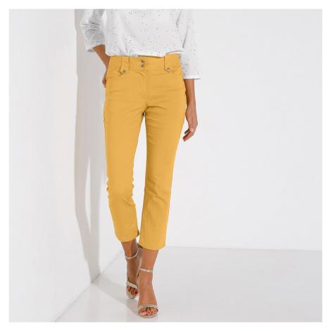 Blancheporte 3/4 kalhoty s vysokým pasem šafránová