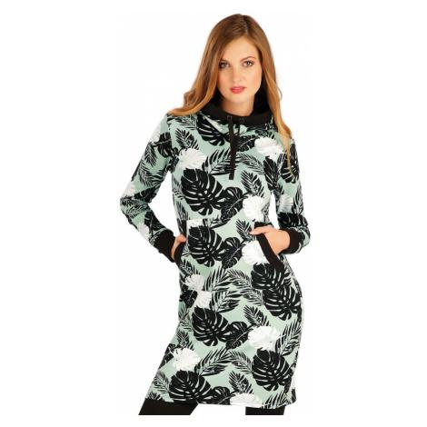 LITEX 7A321 Mikinové šaty s kapucí tisk