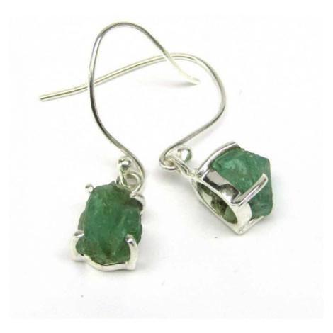 AutorskeSperky.com - Stříbrné naušnice se smaragdem - S5508