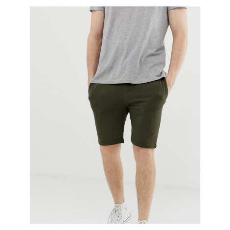 Soul Star basic jersey shorts-Green