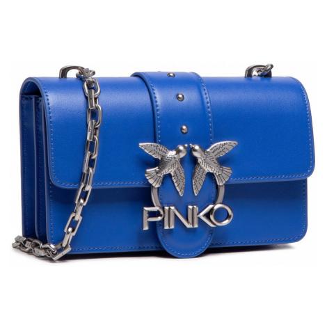 Modrá kožená kabelka - PINKO | Love Mini Icon Simply