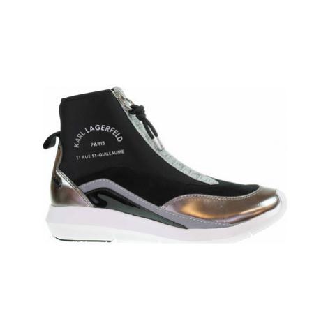 Karl Lagerfeld Dámská kotníková obuv KL61145 40S black lthr Černá