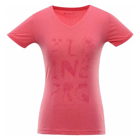 Dámské triko Alpine Pro LAILA 3 - tmavě růžová