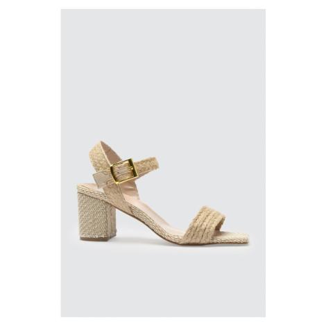 Trendyol Beige Wicker Women's Classic Heels