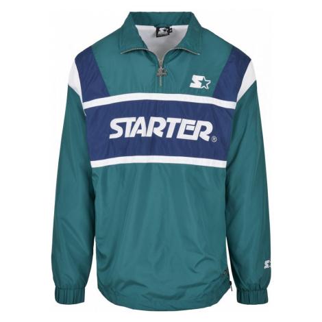 Starter Half Zip Retro Jacket - retro green/blue night/white