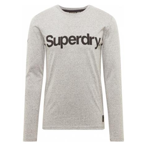 Superdry Tričko šedý melír / černá
