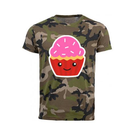 Pánské maskáčové tričko Kawaii cupcake