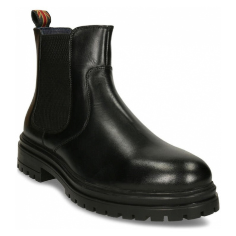 Černá pánská kožená obuv v Chelsea stylu Baťa