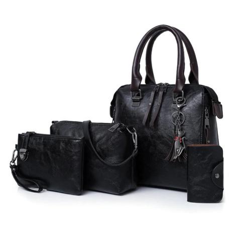 Dámská sada 4 v 1 hnědé barvy kabelky různé velikostí + pouzdro na telefon
