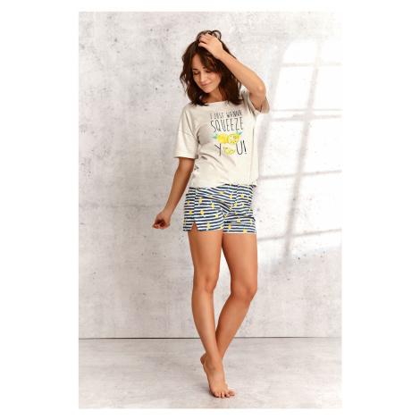 Dámské pyžamo Taro Lemon 2495 kr/rL'21 béžová