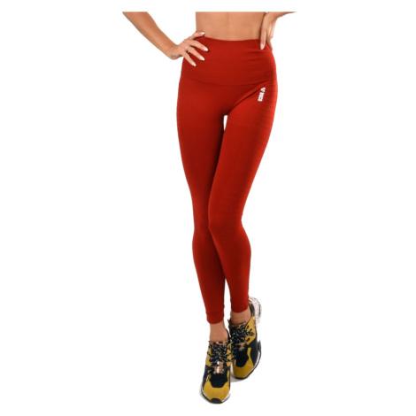 Dámské Legíny Boco Wear Red Plain Push Up Červená