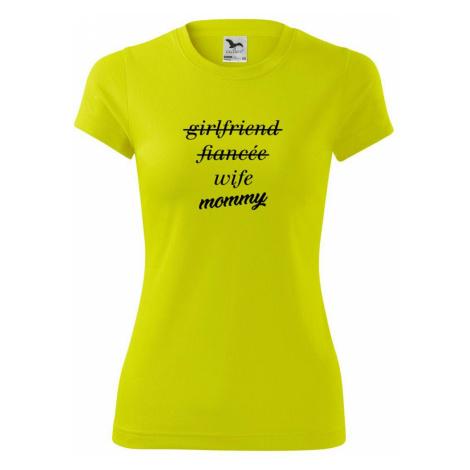 Partnerské triko nastávající rodiče - Dámské Fantasy sportovní (dresovina)
