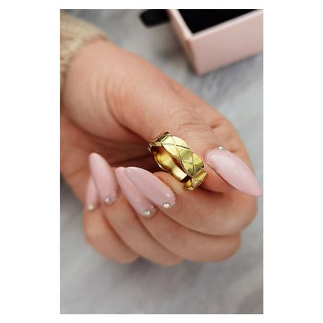 Prsten z chirurgické oceli v zlaté barvě Darla