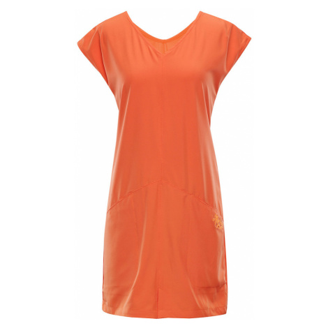 ALPINE PRO VAKIA 2 Dámské šaty LSKN149339 tmavě oranžová