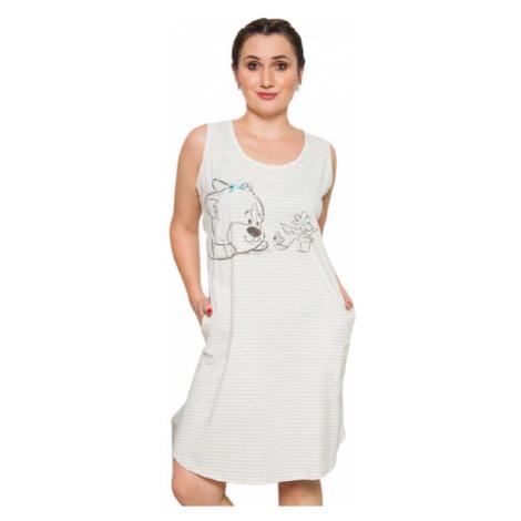 Dámské domácí šaty na ramínka Vienetta Secret Karolína   béžová