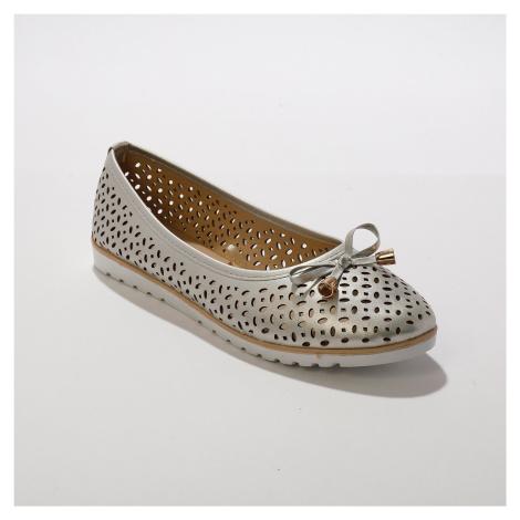 Blancheporte Ažurové baleríny, stříbrné stříbřitá