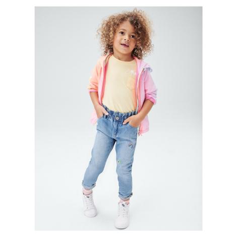 GAP modré dětské džíny s výšivkou