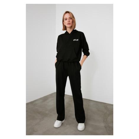 Trendyol Black Straight Fit Knitted Tracksuit bottom