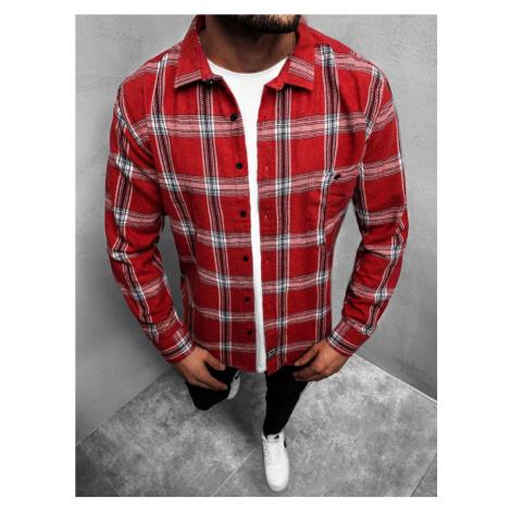 Flanelová červená košile ve stylovém provedení MACH/G501