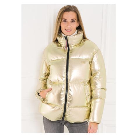 Tommy Hilfiger dámská péřová bunda zlatá