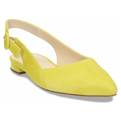 Dámské kožené žluté baleríny Högl