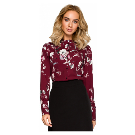 Made Of Emotion Woman's Blouse M408 Maroon