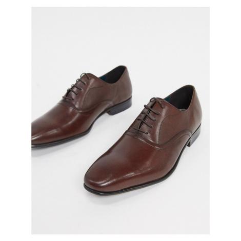 Burton Menswear leather oxford shoes in brown