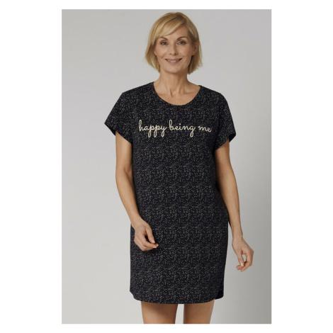 Černá vzorovaná noční košile Nightdress NDK Triumph