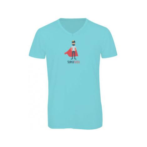 Pánské triko s výstřihem do V Supertáta