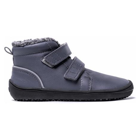 Dětské zimní barefoot boty Be Lenka Penguin - Charcoal 35