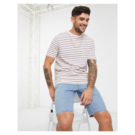 River Island striped ottoman t-shirt in white