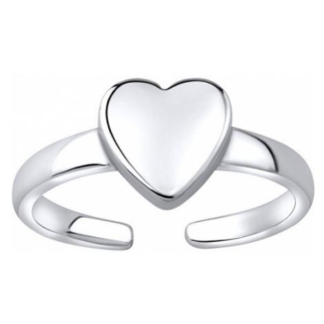 Silvego Stříbrný prsten na nohu se srdcem JJJTR1597