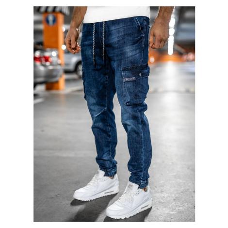 Tmavě modré pánské džínové kapsáče slim fit Bolf 61030W0