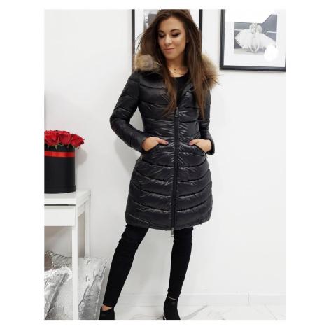 Černá lesklá dámská prošívaná bunda ty1025 BASIC