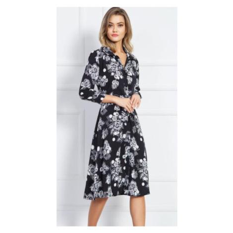 Dámské elegantní šaty Vienetta Secret Martina | černá