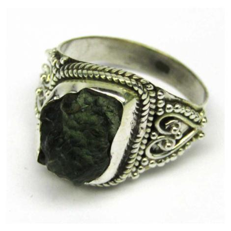 AutorskeSperky.com - Stříbrný prsten s vltavínem - S4454