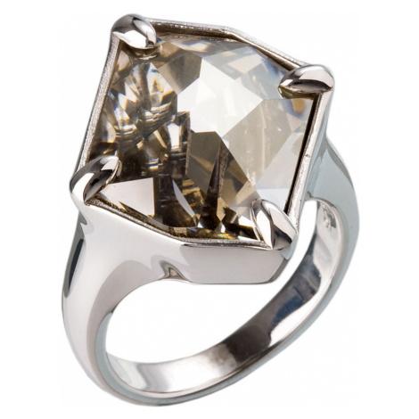 Stříbrný prsten s krystaly šedý 35805.5 Victum