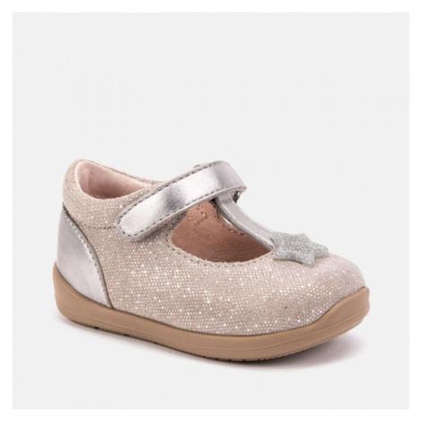 Kojenecká, kožená obuv MAYORAL - balerína 42004 | růžová