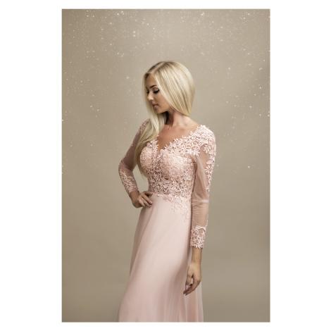 Dlouhé svatební šaty krajkové společenské šaty s 3/4 rukávem