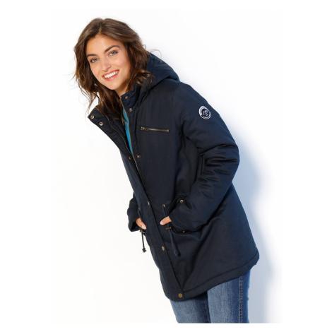 Blancheporte Nepromokavá parka s kapucí a fleecovou podšívkou nám.modrá