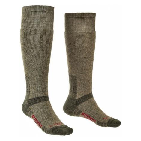 Ponožky Bridgedale Explorer Heavyweight Merino Performance Knee olive/531 L (9-11,5)