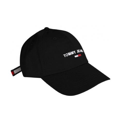Tommy Jeans pánská černá kšiltovka SPORT CAP Tommy Hilfiger