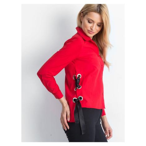 Košile se šněrováním červená
